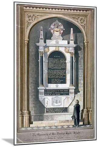 Monument to Sir Thomas Spert in St Dunstan's Church, Stepney, London, 1809-George Hawkins-Mounted Giclee Print