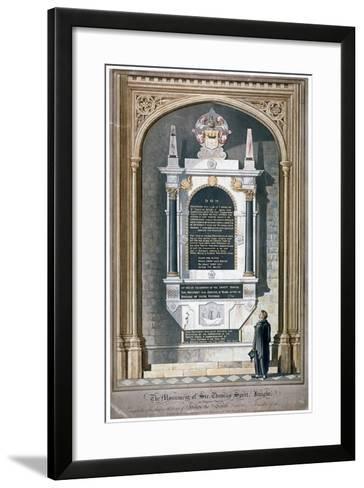 Monument to Sir Thomas Spert in St Dunstan's Church, Stepney, London, 1809-George Hawkins-Framed Art Print