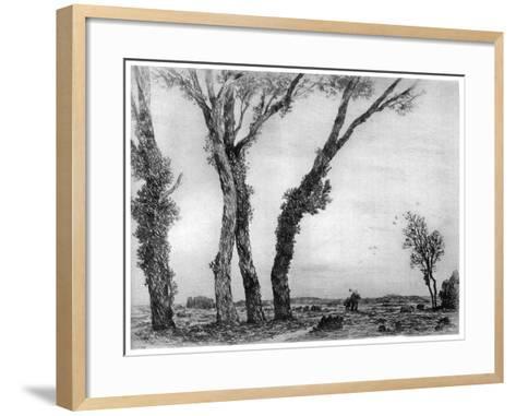 Fin De La Journee, 1890-1940-Gaston de Latenay-Framed Art Print