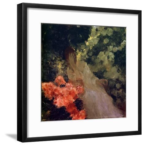 In the Garden, 1898-Gaston De Latouche-Framed Art Print