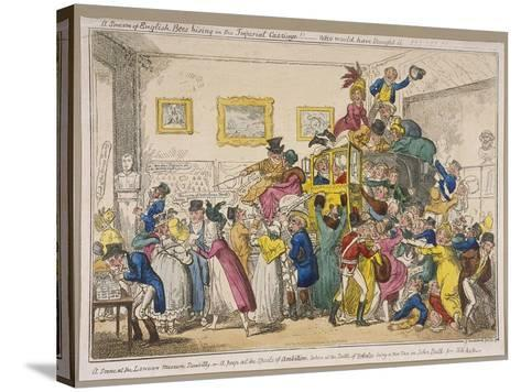 Bonaparte's Coach on Show at Bullock's Museum, Piccadilly, Westminster, London, 1835-George Cruikshank-Stretched Canvas Print