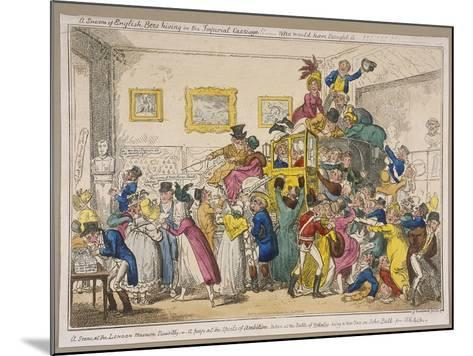 Bonaparte's Coach on Show at Bullock's Museum, Piccadilly, Westminster, London, 1835-George Cruikshank-Mounted Giclee Print