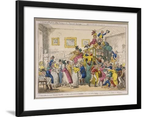 Bonaparte's Coach on Show at Bullock's Museum, Piccadilly, Westminster, London, 1835-George Cruikshank-Framed Art Print