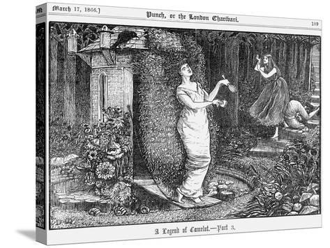 A Legend of Camelot - Part 3, 1866-George Du Maurier-Stretched Canvas Print