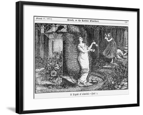 A Legend of Camelot - Part 3, 1866-George Du Maurier-Framed Art Print