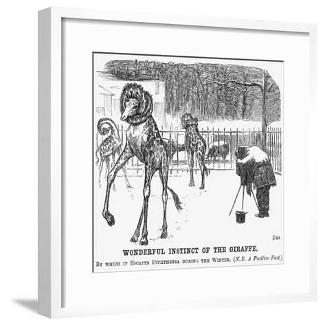 Wonderful Instinct of the Giraffe, 1865-George Du Maurier-Framed Art Print