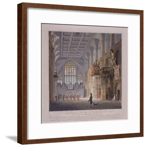 Guildhall, London, 1816-George Hawkins-Framed Art Print