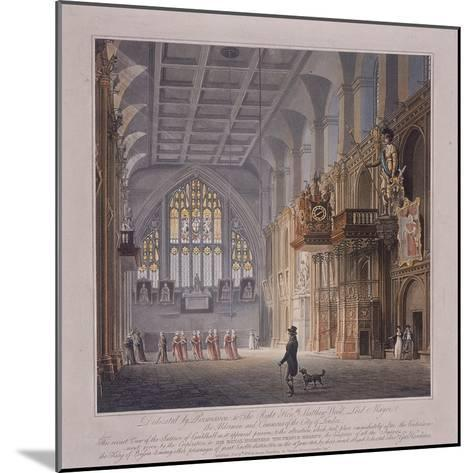 Guildhall, London, 1816-George Hawkins-Mounted Giclee Print