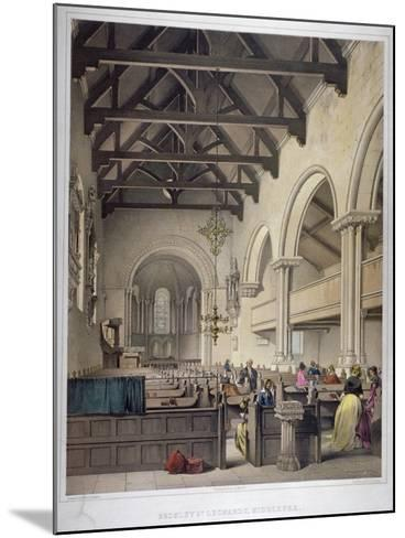 Interior View of St Leonard's Church, Bromley-By-Bow, London, C1860-George Hawkins-Mounted Giclee Print