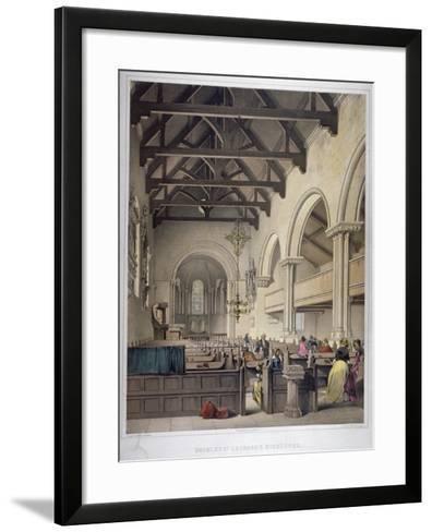 Interior View of St Leonard's Church, Bromley-By-Bow, London, C1860-George Hawkins-Framed Art Print