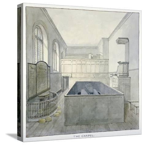 Interior View of the Chapel in Newgate Prison, Old Bailey, City of London, 1840-Frederick Nash-Stretched Canvas Print