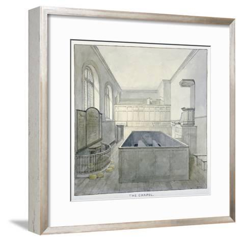 Interior View of the Chapel in Newgate Prison, Old Bailey, City of London, 1840-Frederick Nash-Framed Art Print