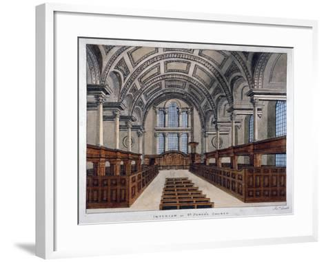 Interior View Looking East, St James's Church, Piccadilly, London, 1806-Frederick Nash-Framed Art Print