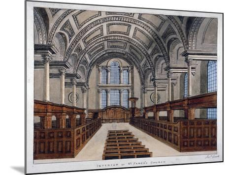 Interior View Looking East, St James's Church, Piccadilly, London, 1806-Frederick Nash-Mounted Giclee Print