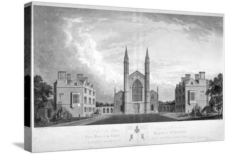 St Katherine's Hospital, Regent's Park, London, 1827-G Reeve-Stretched Canvas Print
