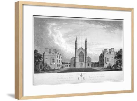 St Katherine's Hospital, Regent's Park, London, 1827-G Reeve-Framed Art Print