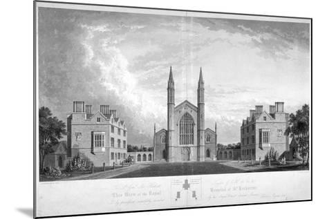 St Katherine's Hospital, Regent's Park, London, 1827-G Reeve-Mounted Giclee Print