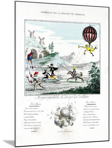 Caricature on the Direction of the Aerostat, 1887-Gaston Tissandier-Mounted Giclee Print