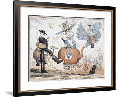 Locomotion, London, C1820-George Cruikshank-Framed Art Print