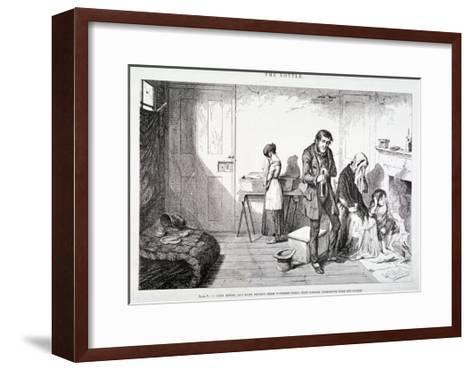 The Bottle, 1847-George Cruikshank-Framed Art Print