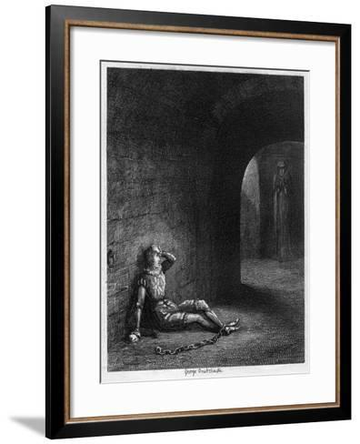 Cuthbert Cholmondeley Surprised by the Appearance of a Mysterious Figure, 1840-George Cruikshank-Framed Art Print