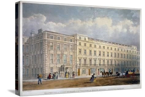 View of Eight Houses in Brook Street, Westminster, London, C1840-George Hawkins-Stretched Canvas Print