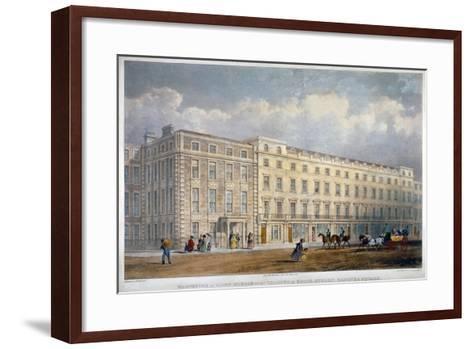 View of Eight Houses in Brook Street, Westminster, London, C1840-George Hawkins-Framed Art Print