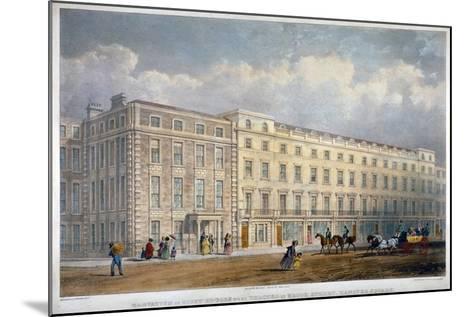 View of Eight Houses in Brook Street, Westminster, London, C1840-George Hawkins-Mounted Giclee Print