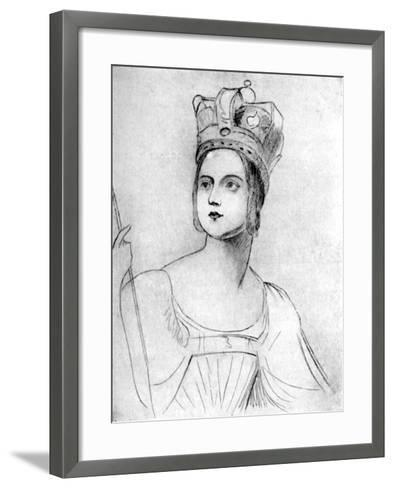 Queen Victoria in Her Coronation Robes, 1837-George Hayter-Framed Art Print