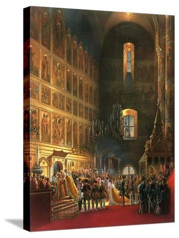 The Anointing of Tsar Alexander II of Russia, Moscow, 1856-Georg Wilhelm Timm-Stretched Canvas Print