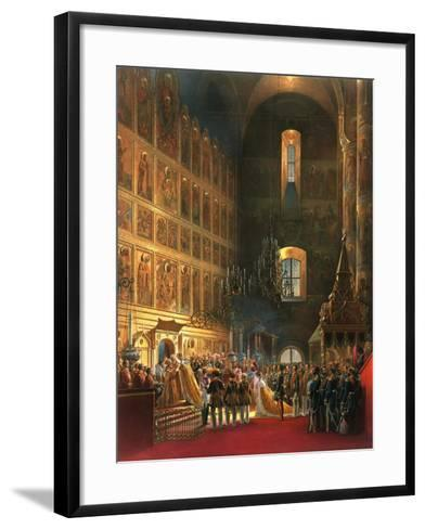 The Anointing of Tsar Alexander II of Russia, Moscow, 1856-Georg Wilhelm Timm-Framed Art Print