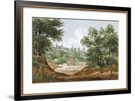 View from the Excavations of Highgate Tunnel, London, 1812-George Arnald-Framed Art Print