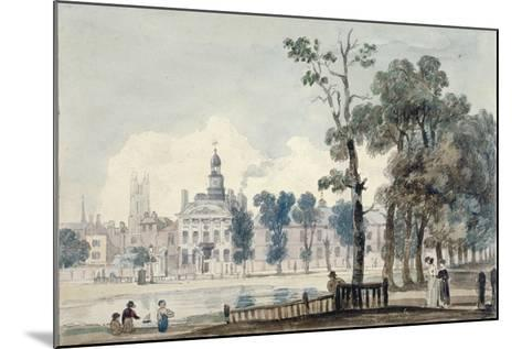 Exterior View of Old Bethlehem Hospital, Moorfields, City of London, 1811-George Arnald-Mounted Giclee Print