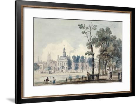 Exterior View of Old Bethlehem Hospital, Moorfields, City of London, 1811-George Arnald-Framed Art Print