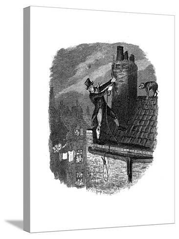 Scene from Oliver Twist by Charles Dickens, 1837-George Cruikshank-Stretched Canvas Print