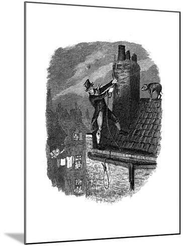 Scene from Oliver Twist by Charles Dickens, 1837-George Cruikshank-Mounted Giclee Print