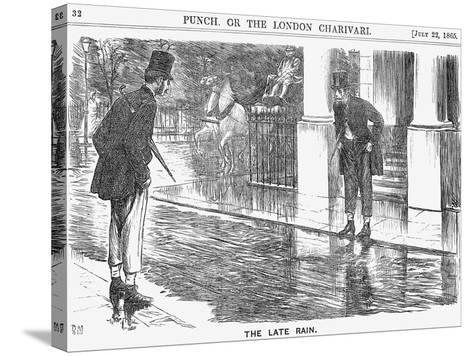The Late Rain, 1865-George Du Maurier-Stretched Canvas Print
