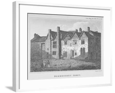 The Abbey of St Saviour, Bermondsey, Southwark, London, 1810-George Henry Andrews-Framed Art Print