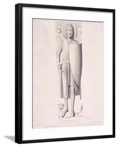 View of the Effigy of a Knight from Temple Church, London, 1840-George Hollis-Framed Art Print