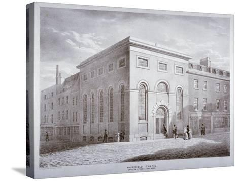 Whitefield Chapel on Charles Street, Westminster, London, C1841-George Scharf-Stretched Canvas Print