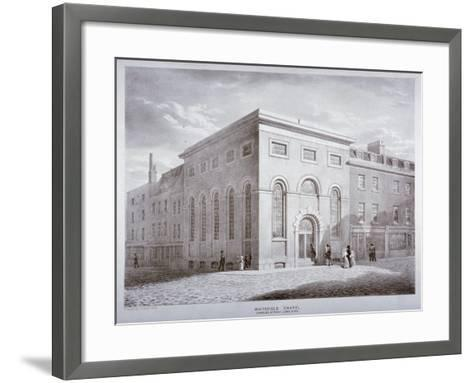Whitefield Chapel on Charles Street, Westminster, London, C1841-George Scharf-Framed Art Print