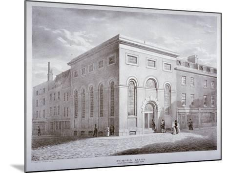 Whitefield Chapel on Charles Street, Westminster, London, C1841-George Scharf-Mounted Giclee Print