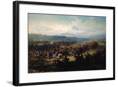 Charge of the English Light Brigade at the Battle of Balaclava on 25 October 1854, 19th Century-Friedrich Kaiser-Framed Art Print