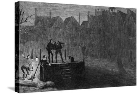 The Night before the Execution, 1554-George Cruikshank-Stretched Canvas Print