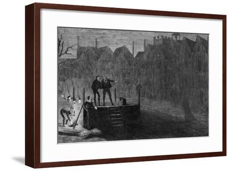 The Night before the Execution, 1554-George Cruikshank-Framed Art Print