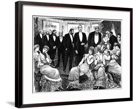 Disastrous Result of Beautymania, 1879-George Du Maurier-Framed Art Print