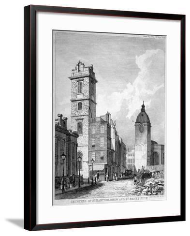 St Bartholomew-By-The-Exchange and St Benet Fink, City of London, 1840-George Hollis-Framed Art Print