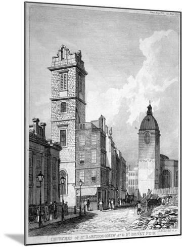 St Bartholomew-By-The-Exchange and St Benet Fink, City of London, 1840-George Hollis-Mounted Giclee Print