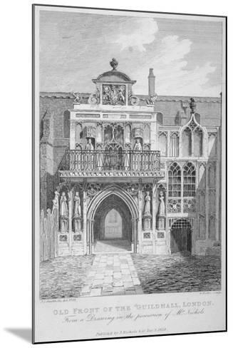 Front View of the Guildhall, Looking North, City of London, 1818-George Hollis-Mounted Giclee Print