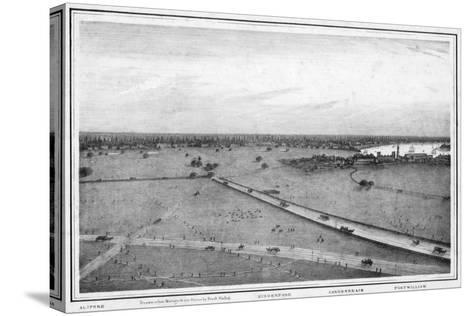Panorama of Calcutta, India, C1840S-Frederick Fiebig-Stretched Canvas Print
